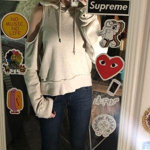 hollister cold shoulder sweatshirt